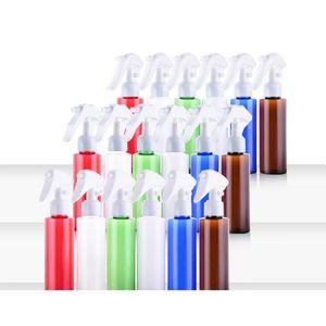 Tetik Doldurulabilir Şişe GWD3041 Ambalaj Sprey Mist Plastik şişeler Ambalaj 100ml Kare Omuz Renkli Sprey Şişe Kozmetik
