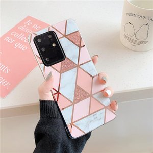 Flykylin Phone Cases For Samsung Galaxy A51 A71 5g S20 Plus Note 20 Ultra A31 A41 A50 A70 Cover Marble Grip Stand jllccP