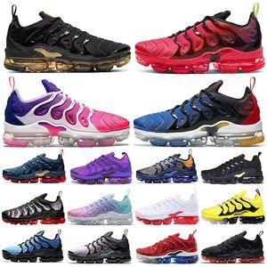 Nike Air Vapormax TN Plus Max verdad triples mujeres negras del arco iris para hombre zapatillas de deporte al aire libre entrenadores