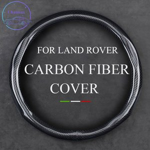 Carbon Fiber Steering Wheel Cover for LAND ROVER RANGE ROVER VELAR DC100 Universal 37-38cm 15 Inche Leather Trim Strip Interior Accessories