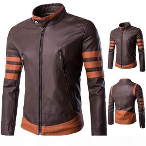 5XL Resident Evil Leather Men Jacket Autumn Wolverine Fashion Cool Stylish Leather Jacket Zipper Stand Collar Motor Jacket For Mens J160809