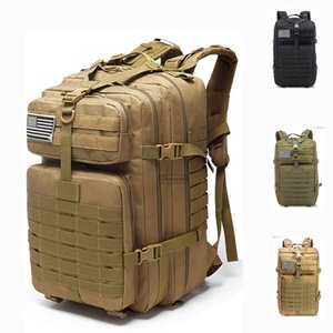 45L Large Capacity Men Army Tactical Backpack Mountaineering Hiking Camping Hunting Trekking Rucksack