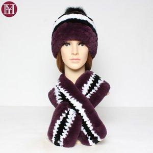 2020 hiver chaud réel rex chapeau de fourrure foulard foulard féminin 100% naturel rix fourrure tricotée foulard chapeau foulard de mode1