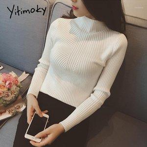 Yitimoky Turtleeneck свитер мода 2020 женщин повседневная мягкая осень зима вязаный свитер тонкие женщины свитера и пуловеры1