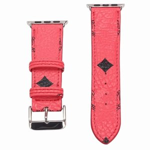 Newest Brand Fashion For Apple Smart Watch Leather Straps 42mm 38mm 40mm 44mm Adjustable Strap for iWatch 5 4 3 2 Band Replacement A06