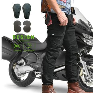 2021 New Men Women Off Road Atv Riding Motocross Racing Jeans Motorbike Trouser with Knee Hip Pads Hockey Pants Knight Dirt Bike Q361