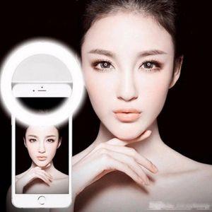 Selfie Universal Selfie المحمولة LED كاميرا الهاتف التصوير الدائري ضوء تعزيز التصوير الفوتوغرافي آيفون X 8 7 6 5 Samsung Xiaomi