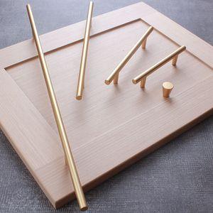 Modern Stainless Steel Kitchen Door Cabinet Gold Handle Pull Knob Cabinet Knobs Furniture Handle Cupboard Drawer Handle