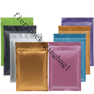 Color Aluminum Foil Bag Mini Self Seal Packing Food Bag Resealable Baking Candy Jewellry Parts Bags Small Pouches LXd