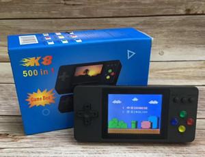 Хороший K8 Portable Двойные портативные телевизоры видеоигры консоли Мини портативный портативный игровой коробка 500 в 1 аркада Play Handheld Game Player