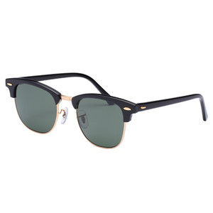 Gafas de sol de alta calidad para hombre Mujeres Real Lentes de vidrio Acetato Marco Gafas de sol Hombres Mujeres Lentes de vidrio Oculos de Sol