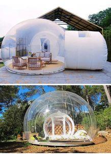 3 M Açık Kamp Şişme Kabarcık Çadır Büyük DIY Temizle Ev Ev Backdyard Kamp Kabin Lodge Hava Kabarcığı Şeffaf Çadır1