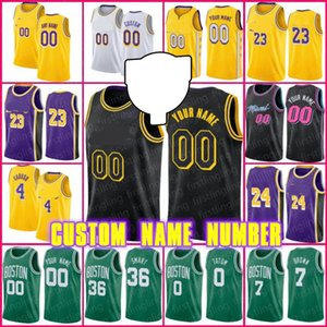 Personalizado Los Caruso Alex Angeles Basketball Jersey Jimmy Tyler Butler Herro Jayson Kemba Tatum Walker Power To The People Jerseys Hombres