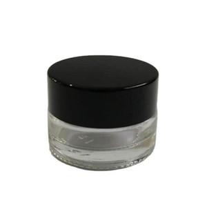 500 x 3G Traval pequeno creme compõem frasco de vidro com tampas de alumínio branco PE pad 3cc embalagem cosmética frasco de vidro dwd3169