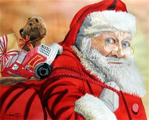 Santa Claus Holiday Gift Home Decor Handpainted &HD Print Oil Painting On Canvas Wall Art Canvas Pictures 201128
