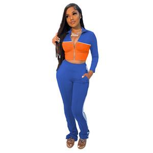 Mode Täfelende Designer Trainingsanzüge Frauen Designer Kleidung 2020 Two Piece Ste Casual Lepal Nacken Womens Set