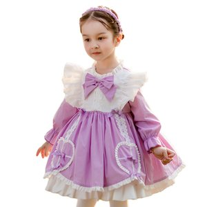 Dress for Girls Baby Autumn Long Sleeve Wedding Dress Girl Ball Gown 2020 Lolita Style Princess Vintage Party Vestidos Clothing