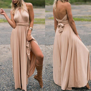 Sexy Women Multiway Wrap Convertible Boho Maxi Club Dress Bandage Long Dress Party Bridesmaids Infinity Robe Femme elegant