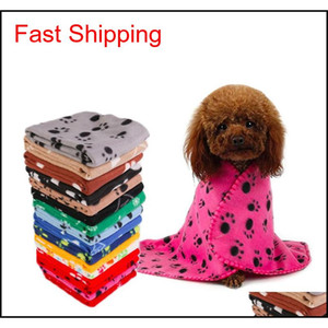 Pet Dog Cat Blanket Cushion Dog Paw Star Print Blankets Dog Bath Cushion Home Pet Products Will And Sandy Gift 4Orgh