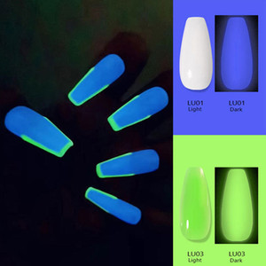 Sengcou 15ML Luminous Poly Nail Gel For Extension Finger Glow in the Dark Painless Quick Building Acrylic Poly Nail Art Gel Manicure