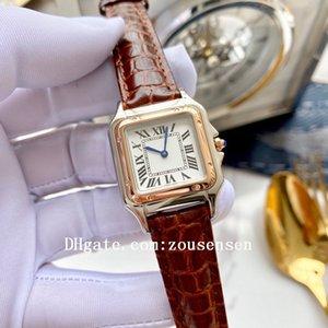 2020 hochwertige klassische panthère de damenuhren diamant santos quarz armbanduhren panthere panzer rose gold damen watch 27mm d5021
