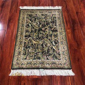 2.7x4 Feet High Quality Beautiful Leaf Design Handmade Silk Turkey Pray Carpets