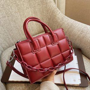Fashion Women Shoulder Bag with Acrylic chain High Quality PU Leather Shopper Bag Luxury Designer Handbag for Elegant Female New