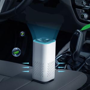 7 luces Purificador de aire de coche Anion Air Purificación de aire Activado Azul de aire Azul ionizador Limpiador de polvo Cigarette Removedor de humo USB Mini