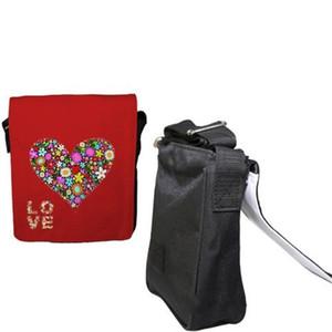 Black Single Shoulder Bag Sublimation Blanks Canvas Square Purse Zipper Strap Adjustable Handbag Mens Women Small Reusable 22yt G2