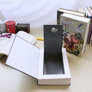 Fake Book Storage Box Mini Safe Box Dictionary Book Bank Money Jewellery Hidden Secret Security Locker with Key or Password Lock Z1123