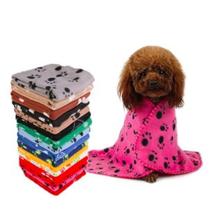 Pet dog cat blanket cushion Dog paw star print blankets Dog bath cushion home pet products 24colors YHM235
