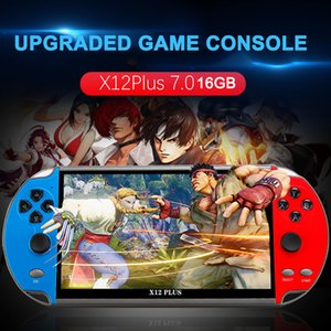 """PSP Game Consoles X12 Plus 7"""" 16GB Retro Handheld Portable 10000 Games Video Console Support Stimulator PS1, GBA, SFC, MD, NES, GB, GBC, CPS"""