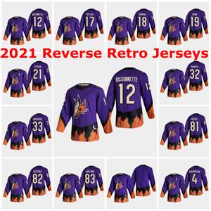 Arizona Coyotes 2021 Reverse Retro Jerseys 81 Phil Kessel Jersey 9 Clayton Keller Oliver Ekman-Larsson Darcy Kuemper Brad Richardson Custom