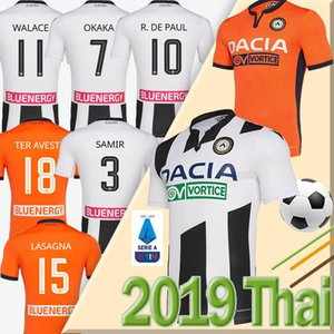 NCAA 19 20 Maglia Udinese Calcio Soccer Jersey 2019 2020 home kit white black PAUL JANKTO TER AVEST PEZZELLA BEHRAMI Football Shirt