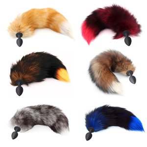 Fox Tails Anal Plug Silicone Anal Sex Toys Butt plug Sex Games Role play Cosplay Toys plug Drop Shipping 201216