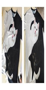 Biaolun New Cool T-shirt Men women 3d Tshirt Print Two Cat Short Sleeve Summer Tops Tees T Shirt Male S-6xl jllysK