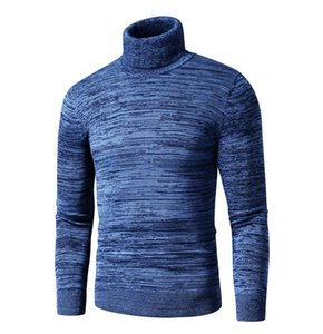 2020 New Winter Sweater Casual Cotton Fleece Turtleneck Sweater Pullovers Men Fashion Warm Thick Male Autumn New Arrival