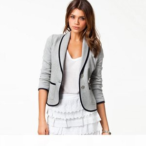 2018 autumn women's new suit European and American college wind cardigan fashion short Slim casual small suit