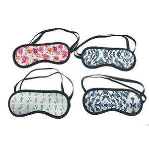 White Black Blank for Sublimation Adjustable Neoprene Eye Mask Travel Sleeping Mask Block Light Blindfold Relieve Eye Fatigue Gift AC1162