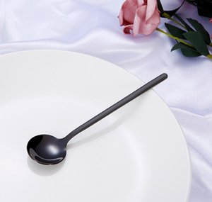 Oxidation-resisting Steel Mixing Spoon Exquisite Dessert Spoons Portable Titanium Plating Heat Resistant With Differe jllexc mx_home
