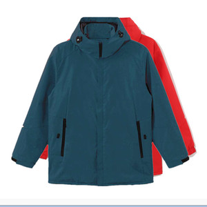 Men's and women's outdoor sports stormsuit camping warm jacket skiing solid waterproof shirt cycling windbreaker Increased funds