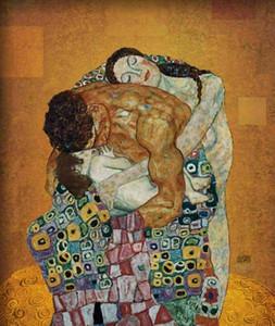Gustav Klimt Семейный декор Home Home Rapcarafts / HD Печать Маслом Картина на холсте Настенное искусство Изображение 210203