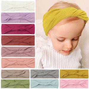 INS 2021 new baby headbands nylon girls headbands cute Newborn headbands kids head bands girls hair bands baby hair accessories B3346