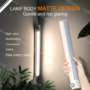 Sicherheitsleuchten Bewegungssensor drehbar USB-Ladung 5V 30 cm 3000K SMD2835 Aluminium + PC-Abdeckung für Schlafzimmer Kleiderschrank Kabinettlampe DHL