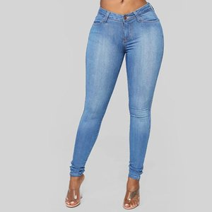 Fashion Ladys Calsa Feminino Woman Plus High Waisted Stretch Slim Jeans Mujer 2020 Casual Pencil Pants Large Size #3