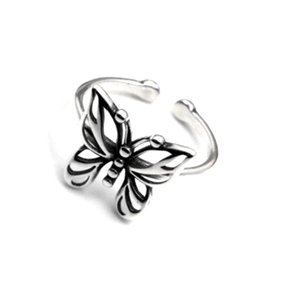 Vintage Butterfly Open Ring Women Girl Cute Insect Butterfly Finger Ring Fashion Jewelry Accessories for Gift Party