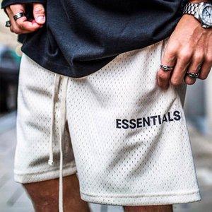 Forma-Mens Verão malha t-shirts Shorts Essentials Calças Curtas Esporte respirável Masculino solto Moda Hip Hop Casual Streetwear Shorts