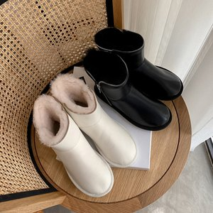 2020 Leather Women's with High Quality Microfibre Winter Snow Australia Wool Classic Woman Ankle Platform Boots More Size 8w14