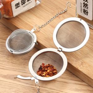 Sıcak Paslanmaz Çelik Çay Pot Demlik Küre Örgü Süzgeç Topu 304 Mesh Zincir Paslanmaz Çelik Çay Tahliye Ile Ev Filtresi Baharat Topu