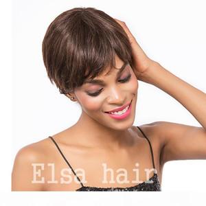short lace hair wigs Brazilian Human Hair Wigs cheap pixie cut lace wig short cut lace front wigs for black Women